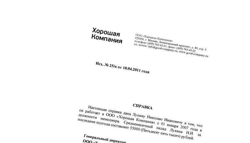 Купить справку для визы в Финляндию в Москве недорого и с доставкой